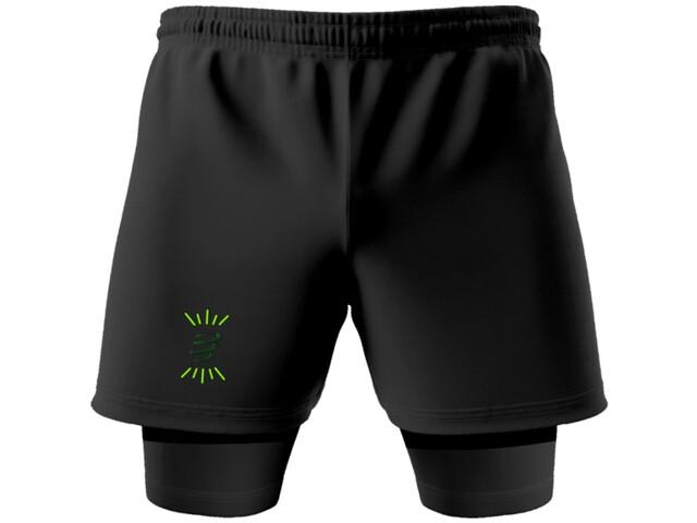 Compressport Racing 2-in-1 Shorts Camo Neon 2020 jungle green